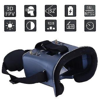 3D glasses ls-008d 5.8G fpv googles vr glasses 40ch with 2000ma battery dvr diversity for rc model