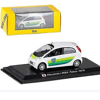 Toy cars 1:43 taxi alloy model  country simulation die cast metal models christmas gift collection ornaments white