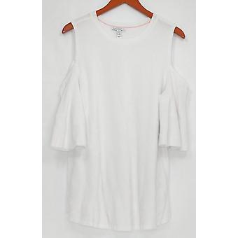 Isaac Mizrahi en direct! Pull Femme Plus Épaule Froide Blanc A303172
