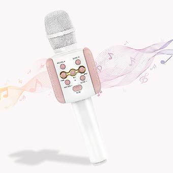 Microfone de karaokê Bluetooth sem fio com luz led, karaokê infantil