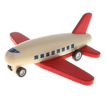 Mini Friction En Bois Propulsion Rollback Avion Jouet Enfants Cadeau Friction Puissance Jouet