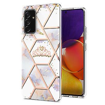 Boîtier Samsung Galaxy A82 5g Marbre Pare-chocs Brillant Design Antichoc Flexible - Royal Crown