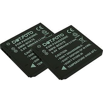 2 x Dot.Foto Panasonic DMW-BCK7, de batterij van de vervanging van de NCA-YN101F - 3.6V / 680mAh