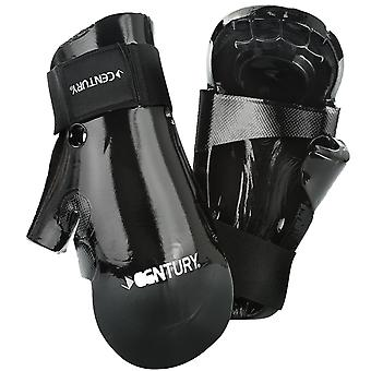 Century Kids Martial Arts Student Hook and Loop Sparring Gloves - Black - karate