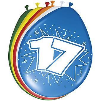 Ballons colorés ballon numéro anniversaire 17 8 ballons St. décoration fête