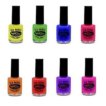 UV Neon Paint Glow Nagellack UV Leucht Schminke 12ml