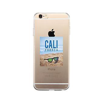 カリフォルニア ビーチ サングラス クリア携帯電話ケース