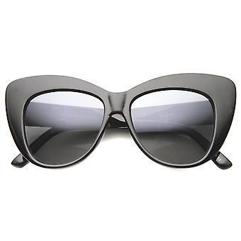 レディース猫目サングラス UV400 保護グラデーション レンズ