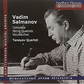 Taneyev String Quartet - Salmanov: Complete String Quartets Nos. 4-6 Vol. 2 [CD] USA import