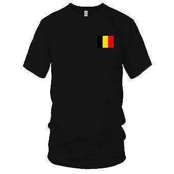 Belgia nasjonale flagg - brodert Logo - 100% bomull t-skjorte Kids T skjorte