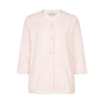 Slenderella BJ7305 Frauen Pink Floral Robe Bedjacket