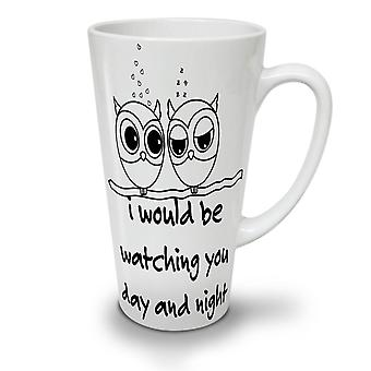Owl Love Cool Joke Funny NEW White Tea Coffee Ceramic Latte Mug 12 oz | Wellcoda