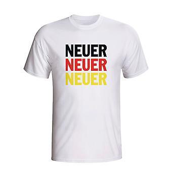 Manuel Neuer Deutschland Spieler Flag T-shirt (weiss) - Kids