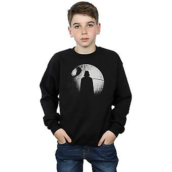 Star Wars Boys Rogue One Death Star Vader Silhouette Sweatshirt