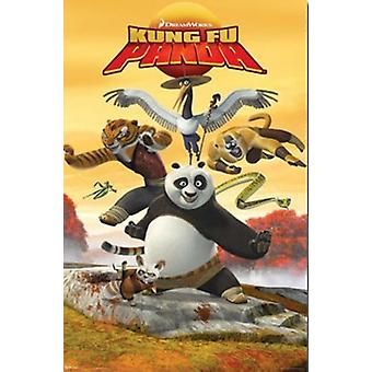 Kung Fu Panda - potkia Juliste Tulosta