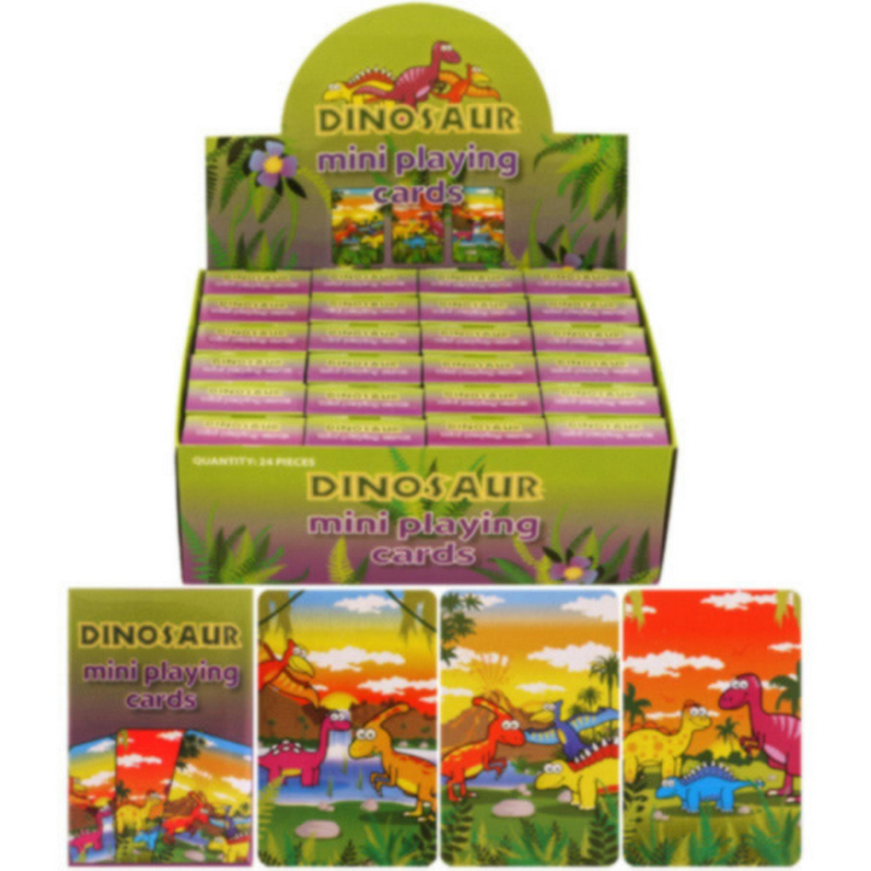 Henbrandt Childrens/Kids Dinosaur Design Mini Playing Cards (Box Of 24)