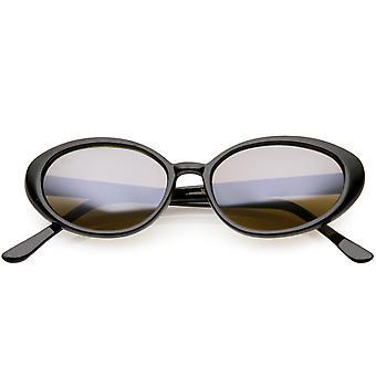 Prawdziwe Vintage okulary owalne lustro kolorowe obiektyw 51mm