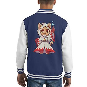 Final Fantasy White Mage Cats Kid's Varsity Jacket