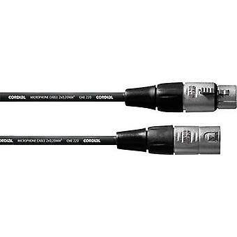 Cordial CFM1FM XLR Kabel [1x XLR-Buchse - 1x XLR-Stecker] 1,00 m Schwarz