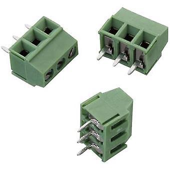 Würth Elektronik WR-TBL 2141 Screw terminal 1.50 mm² Number of pins 3 Green 1 pc(s)
