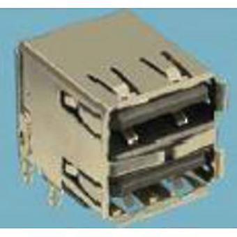Asennettu pistorasiatyyppi A USB 2.0 Socket, vaakasuora usb 2 -portit 72309-8034BLF FCI Sisältö: 1 kpl