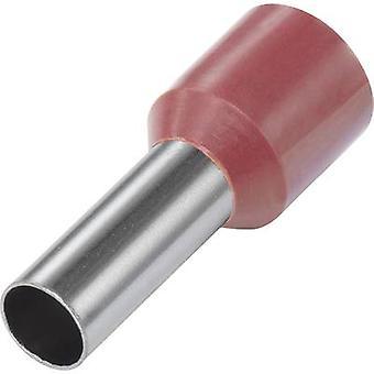 Vogt Verbindungstechnik 490812 Ferrule 1 x 10 mm2 x 12 mm Teilweise isoliert Rot 100 Stk.