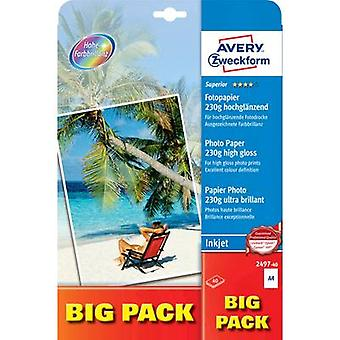 Avery-Zweckform Superior Photo Paper Inkjet 2497-40 Photo paper A4 40 sheet High-lustre