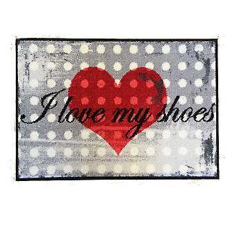 Salong lion dörrmatta jag älskar min tvättbara skor matta 50 x 75 cm