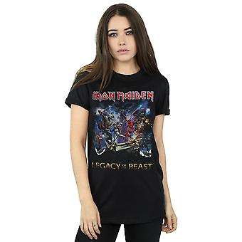 Iron Maiden Women's Legacy Of The Beast Boyfriend Fit T-Shirt