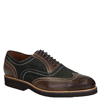 Men's oxfords shoes in 2 tones italian leather