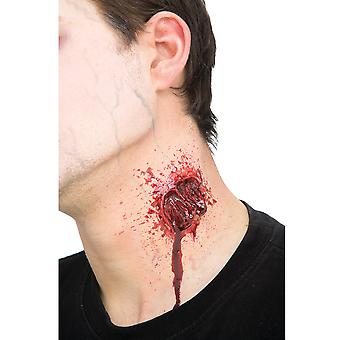 Vampire Gash Injury Open Wound Halloween Womens Mens Costume Prosthetic