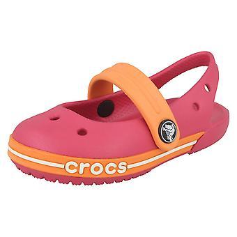 Crocs meisjes zomer sandalen 'Crocband Slingback Girls' Frambozen/Grapefruit UK 6 baby, EU 22-23