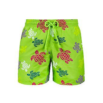 Vilebrequin Grass grønn multi-farge Turtle Swim shorts