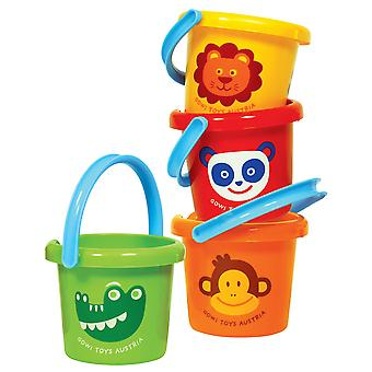 Gowi Toys Children's Zoo Animal Bucket Gardening Outdoor Explore Water Sand
