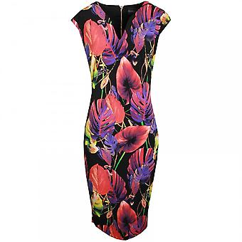 Frank Lyman Floral Print Sleeveless Shift Dress