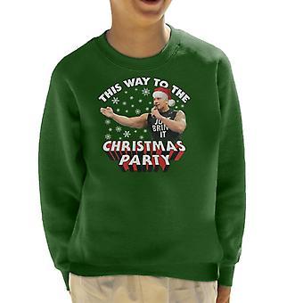 ドウェインにロック・ジョンソンをこのようにクリスマスパーティーの子供のスウェットシャツに