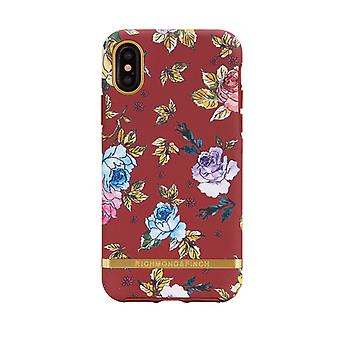Richmond & Finch shells voor IPhone X/XS-rode bloemen