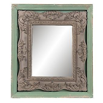 CLAYRE & EEF parete specchio legno vetro shabby cottage storia d'amore circa 41 x 4 x 47 cm