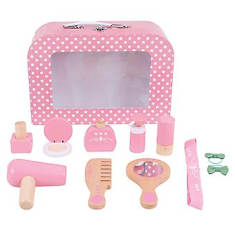 Bigjigs Toys Vanity Kit - Pretend Play Beauty Cosmetic Makeup Set