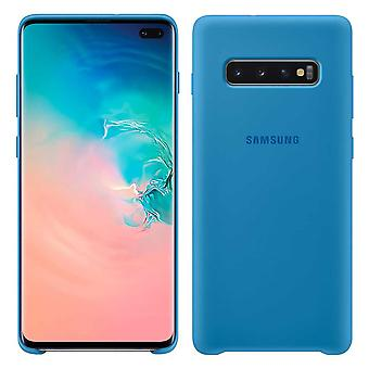 Samsung silicone cover blue for Samsung Galaxy S10 plus G975F EF-PG975TLEGWW bag case protective cover
