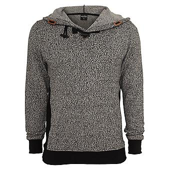 Urban classics men's Hooded sweater knitted melange