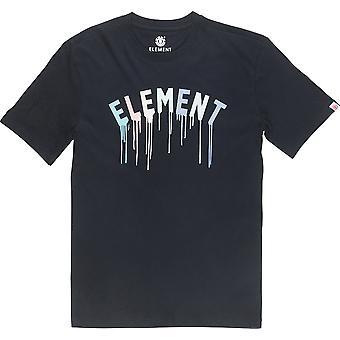 T-shirt à manches courtes Element Stencil en noir Flint