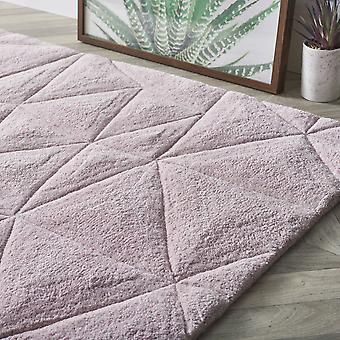 3D Dreiecke rosa Rechteck Teppiche Plain/fast nur Teppiche