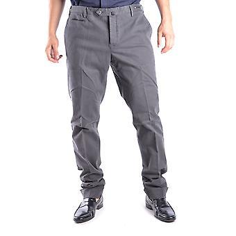 Pt01 Ezbc084003 Men's Brown Cotton Pants