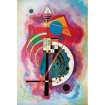 Puzzle aus handgefertigten Holzteilen - Wassily Kandinsky: Hommage a Grohmann