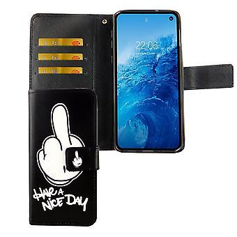Samsung Galaxy S10e Tasche Handy-Hülle Schutz-Cover Flip-Case mit Kartenfach Have a nice day