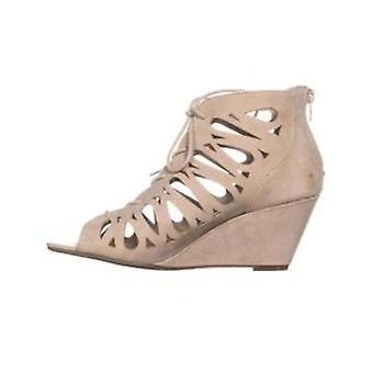 Material Girl Womens Harlie aberto Toe sandálias de plataforma Casual