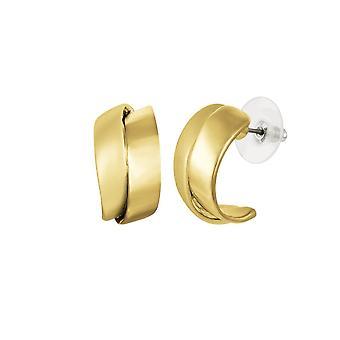 Eternal Collection Clevedon Gold Tone Twist Half Hoop Pierced Earrings