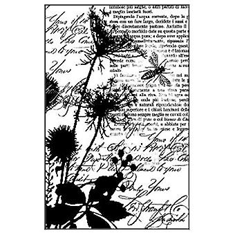 Stamperia Natural Rubber Stamp Texture Bees (WTKCC74)