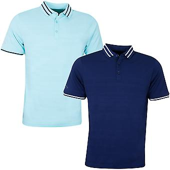 Callaway Mens Block Texture Embroidered Golf Polo Shirt